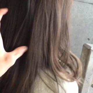 ストリート セミロング 暗髪 ハイライト ヘアスタイルや髪型の写真・画像