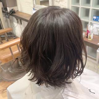 時短ヘア ナチュラル ボブ デジタルパーマ ヘアスタイルや髪型の写真・画像
