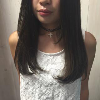 ミディアム ストリート ブルージュ 暗髪 ヘアスタイルや髪型の写真・画像