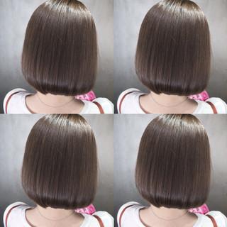 ナチュラル 透明感 ボブ デート ヘアスタイルや髪型の写真・画像 ヘアスタイルや髪型の写真・画像