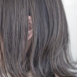 外国人風 グレー ストリート ボブ ヘアスタイルや髪型の写真・画像