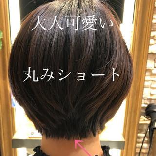 ナチュラル 透明感カラー ショートボブ ショート ヘアスタイルや髪型の写真・画像