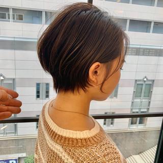 スタイリング動画 ショートパーマ ショートボブ ナチュラル ヘアスタイルや髪型の写真・画像