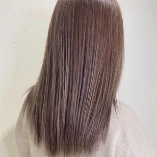 ナチュラル ハイライト 大人ハイライト セミロング ヘアスタイルや髪型の写真・画像