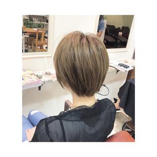 ショート ショートボブ ハイトーン ハイライト ヘアスタイルや髪型の写真・画像