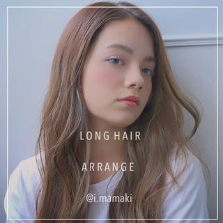 ロング 透明感 大人かわいい オルチャン ヘアスタイルや髪型の写真・画像