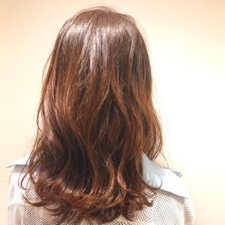 セミロング エレガント ピンクアッシュ ピンクブラウン ヘアスタイルや髪型の写真・画像