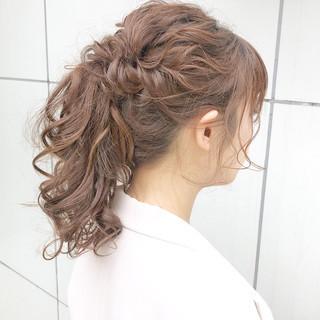 簡単ヘアアレンジ ロング 成人式 結婚式 ヘアスタイルや髪型の写真・画像