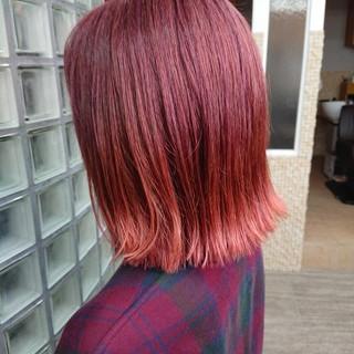 ストリート ピンクカラー トワイライト ブリーチカラー ヘアスタイルや髪型の写真・画像