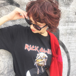 モード 前髪あり パーマ ブラウン ヘアスタイルや髪型の写真・画像 ヘアスタイルや髪型の写真・画像
