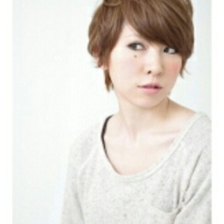 前髪あり 大人かわいい フェミニン ショート ヘアスタイルや髪型の写真・画像