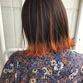 ヘアアレンジ オレンジ スポーツ イエロー ヘアスタイルや髪型の写真・画像 ヘアスタイルや髪型の写真・画像