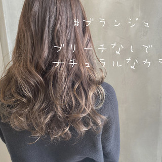 グレージュ ブラウンベージュ ナチュラルブラウンカラー セミロング ヘアスタイルや髪型の写真・画像