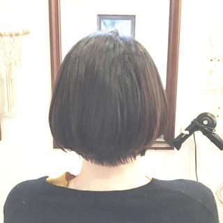 ボブ ショートボブ ショートカット ストレート ヘアスタイルや髪型の写真・画像