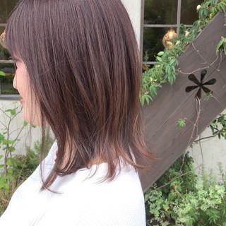 ラベンダーアッシュ ブルーラベンダー ナチュラル アッシュグラデーション ヘアスタイルや髪型の写真・画像