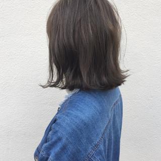 外国人風 切りっぱなし ボブ ナチュラル ヘアスタイルや髪型の写真・画像