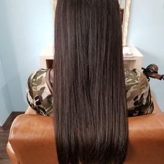 艶髪 ナチュラル ロング トリートメント ヘアスタイルや髪型の写真・画像