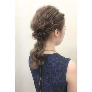 ヘアアレンジ ショート 外国人風 ミディアム ヘアスタイルや髪型の写真・画像