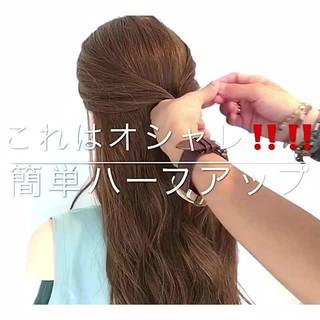 色気 ロング 簡単ヘアアレンジ 夏 ヘアスタイルや髪型の写真・画像