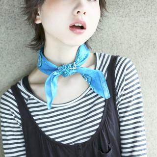 ストリート 前髪あり ショート 外国人風 ヘアスタイルや髪型の写真・画像