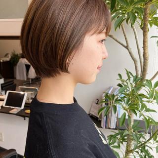 ショート ショートボブ ショートヘア ゆるふわ ヘアスタイルや髪型の写真・画像