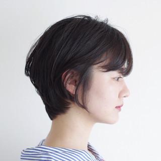 ショート ナチュラル 大人かわいい ひし形 ヘアスタイルや髪型の写真・画像 ヘアスタイルや髪型の写真・画像