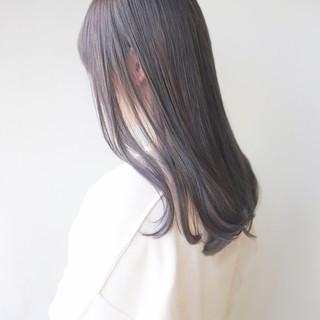 イルミナカラー セミロング 透明感カラー ミルクティーグレージュ ヘアスタイルや髪型の写真・画像