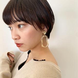 黒髪 ショートボブ ショート ナチュラル ヘアスタイルや髪型の写真・画像   小椋聡太 / tricca