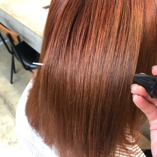 ダブルカラー プリンセストリートメント ミディアム ブリーチ ヘアスタイルや髪型の写真・画像