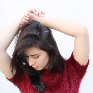 簡単 セクシー 黒髪 セミロング ヘアスタイルや髪型の写真・画像 ヘアスタイルや髪型の写真・画像