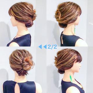 デート アウトドア オフィス 簡単ヘアアレンジ ヘアスタイルや髪型の写真・画像