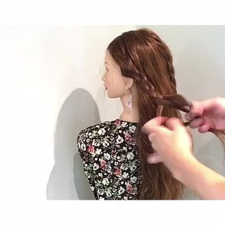 涼しげ ヘアアレンジ 女子会 夏 ヘアスタイルや髪型の写真・画像