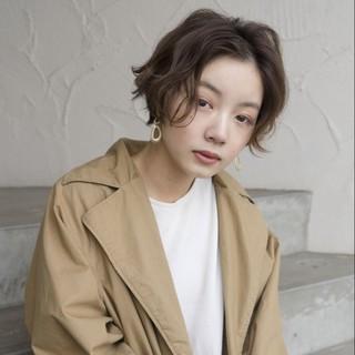 謝恩会 ナチュラル ショート アウトドア ヘアスタイルや髪型の写真・画像