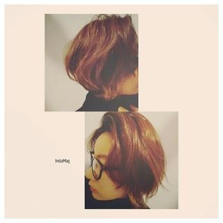 前髪あり ショートボブ 外ハネ ゆるふわ ヘアスタイルや髪型の写真・画像