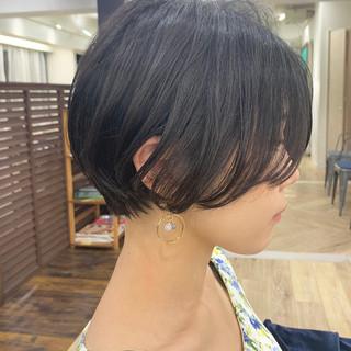 ショート ナチュラル デート 黒髪 ヘアスタイルや髪型の写真・画像