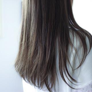 ロング ブラウン グレージュ 暗髪 ヘアスタイルや髪型の写真・画像