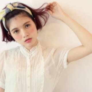 外国人風 ヘアアレンジ ボブ ストリート ヘアスタイルや髪型の写真・画像