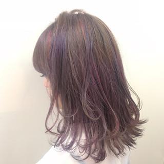 アンニュイ ハイライト 秋 ストリート ヘアスタイルや髪型の写真・画像