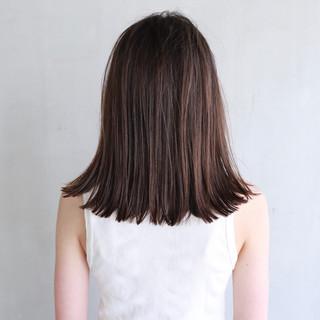 ミディアム 抜け感 ナチュラル 透明感 ヘアスタイルや髪型の写真・画像