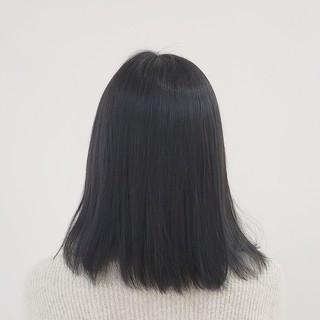 セミロング ダークアッシュ ストリート 大人かわいい ヘアスタイルや髪型の写真・画像