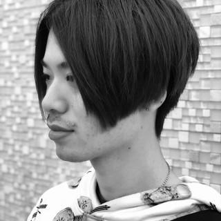 メンズスタイル ナチュラル 前下がりヘア 前下がり ヘアスタイルや髪型の写真・画像