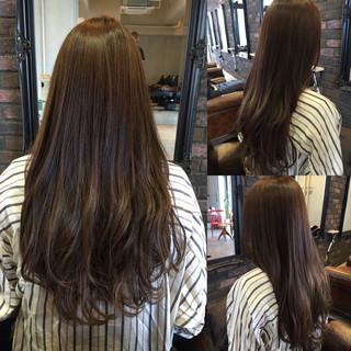 外国人風 グラデーションカラー ストリート フェミニン ヘアスタイルや髪型の写真・画像