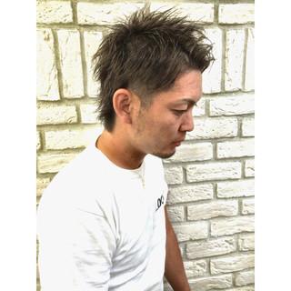 メンズ レイヤーカット ショート ストリート ヘアスタイルや髪型の写真・画像