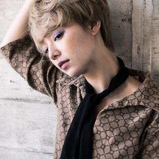 外国人風カラー ナチュラル 外国人風 ショート ヘアスタイルや髪型の写真・画像