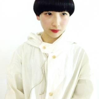 刈り上げ 黒髪 マッシュ 大人女子 ヘアスタイルや髪型の写真・画像