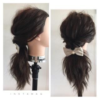 波ウェーブ ロング ヘアアレンジ ショート ヘアスタイルや髪型の写真・画像 ヘアスタイルや髪型の写真・画像
