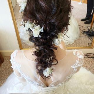 結婚式髪型 ゆるナチュラル フェミニン 大人かわいい ヘアスタイルや髪型の写真・画像