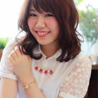 ガーリー 大人かわいい ゆるふわ 大人女子 ヘアスタイルや髪型の写真・画像