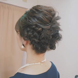 結婚式 編み込み くるりんぱ ボブ ヘアスタイルや髪型の写真・画像 ヘアスタイルや髪型の写真・画像