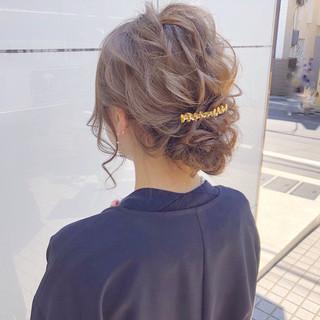結婚式 ロング デート 簡単ヘアアレンジ ヘアスタイルや髪型の写真・画像